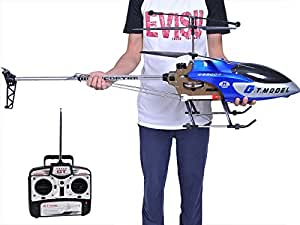 53 Inch Extra Large GT QS8006 2 Speed 3.5 Ch RC Helicopter Builtin GYRO Blue by Avatar