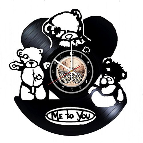 Teddy Bear Toy Vinyl Record Wall Clock - Really the Most Original Gift for Him and Her - Perfect Element of the Interior and Amazing Home Decor Idea