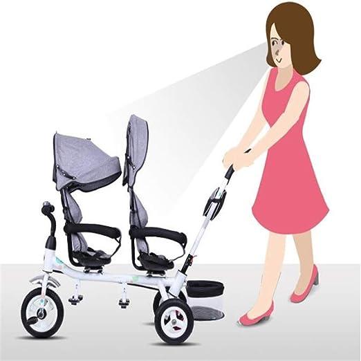 Sillones Mellizos Triciclos Niños Dobles Bicicletas Gemelos Carrito de bebé 1-7 años Coche de bebé: Amazon.es: Bebé
