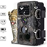 Powerextra 12MP 1080P HD Hunting Trail Game Camera 120° Wide Angle 3 Zone No Glow IR Infrared Night Vision Waterproof Wildlife Outdoor Monitoring Camera