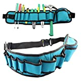 Tool Belt, Maintenance and Electrician's Pouch Adjustable Waist Bag Durable Multi-functional Tool Organizer Holder for Screwdriver Tool Holder Rack