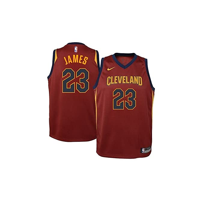 Nike NBA Cleveland Cavaliers LeBron James Youth Swingman Jersey - Icon Edition Youth Large: Amazon.es: Ropa y accesorios