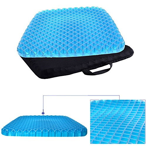 NEWTECHPLUS Egg Gel Sitter Foam Seat Cushion Non-Slip Perfect for Office Chair, Car, Wheelchair Cover Sitter Soft Pad Pain Relief Back & Sciatica & Coccyx with Washable Cover by NEWTECHPLUS