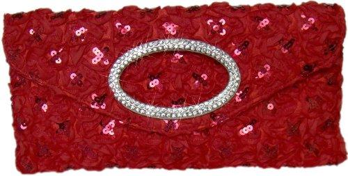 Rot Damen Clutch Hochzeitstasche Handtasche Abendtasche Diva qqgZHf