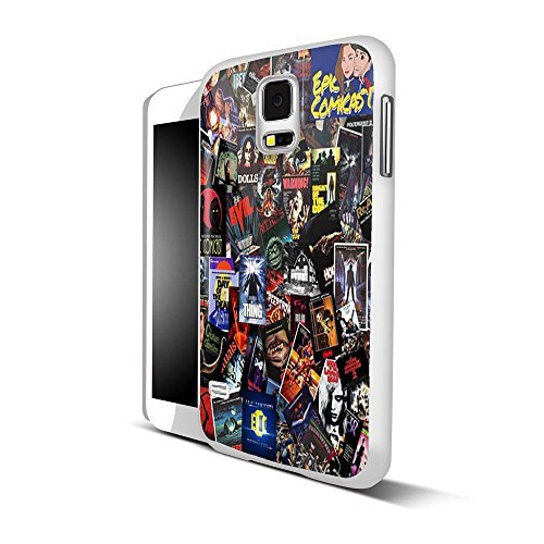 Top Horror Movies collage for iPhone and Samsung Galaxy Case (Samsung Galaxy S5 white) (Top Horror Films For Halloween)