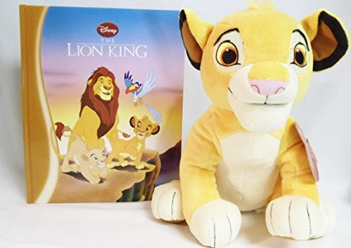 "Disney's the Lion King Collection Bundle Simba Plush 12"" and Hardback Book"