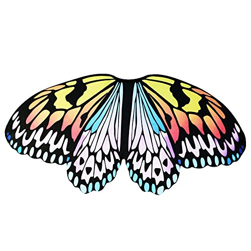 Kids Fairy Butterfly Wings Costume for Girls Pretend Play Dance Dress up Party Favors (#1 Rainbow (Rainbow Butterfly Wings Costume)