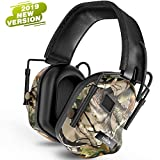 TOENNESEN 2019 Professional Sport Sound Amplification Electronic Shooting Earmuff, NRR 27 dB Ideal for Shooting and Hunting(Camo) (Camouflage)