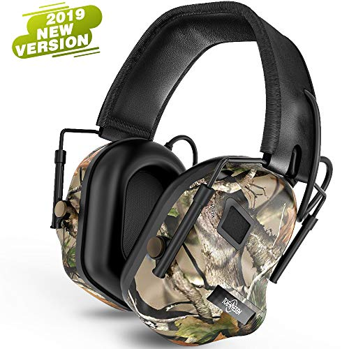 Tactical Headset Electronic Earmuff Headphones - Sound Amplification Electronic Noise Canceling Hearing Protection(Camouflage)
