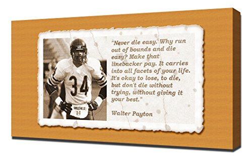 Walter Payton Quotes 5 - Canvas Art Print