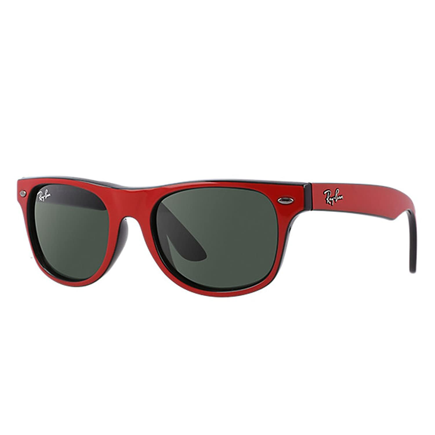 ray ban outlet italia  amazon: ray ban junior junior wayfarer top red on black frame green lenses 44mm non polarized: ray ban: clothing