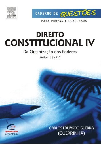 Direito Constitucional - Volume 5. Serie Caderno De Questoes PDF
