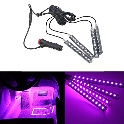 automotive, lights & lighting accessories, accent & off road lighting, led & neon lights,  neon accent lights  discount, HengJia Auto Parts LED Car Interior Floor Decorative Atmosphere Lights Strip Waterproof Glow Neon Interior Decoration Lamp?pink? in US2