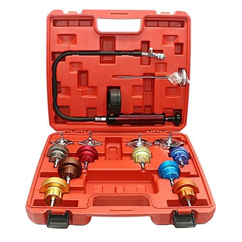 GOGOLO 14PCS Car Radiator Pressure Tester Kit Water Tank Leak Detector Cooling System Leak Tester Universal Car Diagnostic Tools