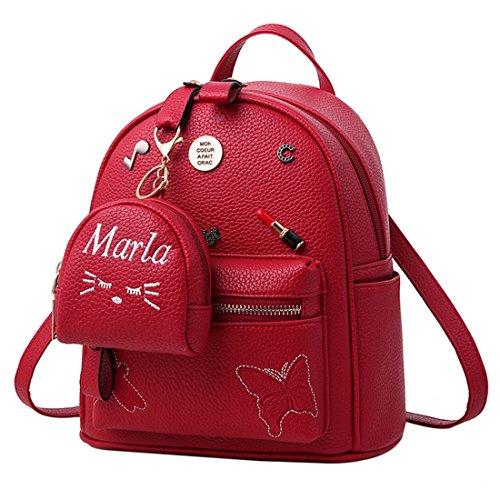 BAOFASHION Women/'s PU Leather Retro Purses Small Bag Pandent Backpack