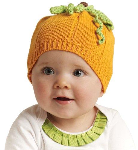 (Mud Pie Baby Girls' Pumpkin Hat, Orange, 0 12)