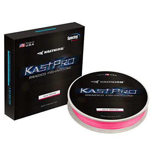 KastKing KastPro Braided Fishing Line,Ultra Pink,300Yds,6LB (Fishing Knots For Braided Line To Monofilament)