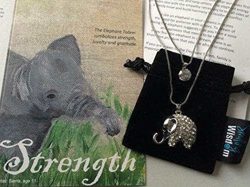 Smiling Wisdom Elephant Greeting Rhinestones