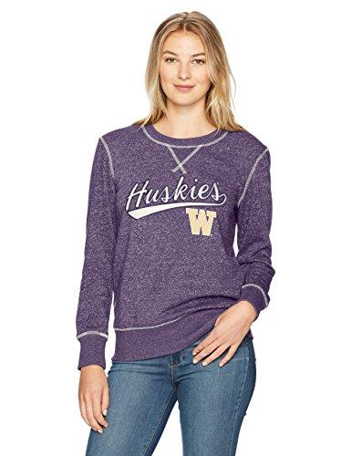 NCAA Washington Huskies Women's Ots Seneca Crew Neck Pullover, Large, Purple