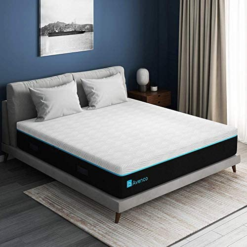 Queen Mattress, Avenco Memory Foam Mattress Queen Size, 11 Inch Queen Size Mattress in a Box, Cooling Gel Foam with Removable and Washable Cover, Medium Firm, Ultimate Supportive, CertiPUR-US & ISPA