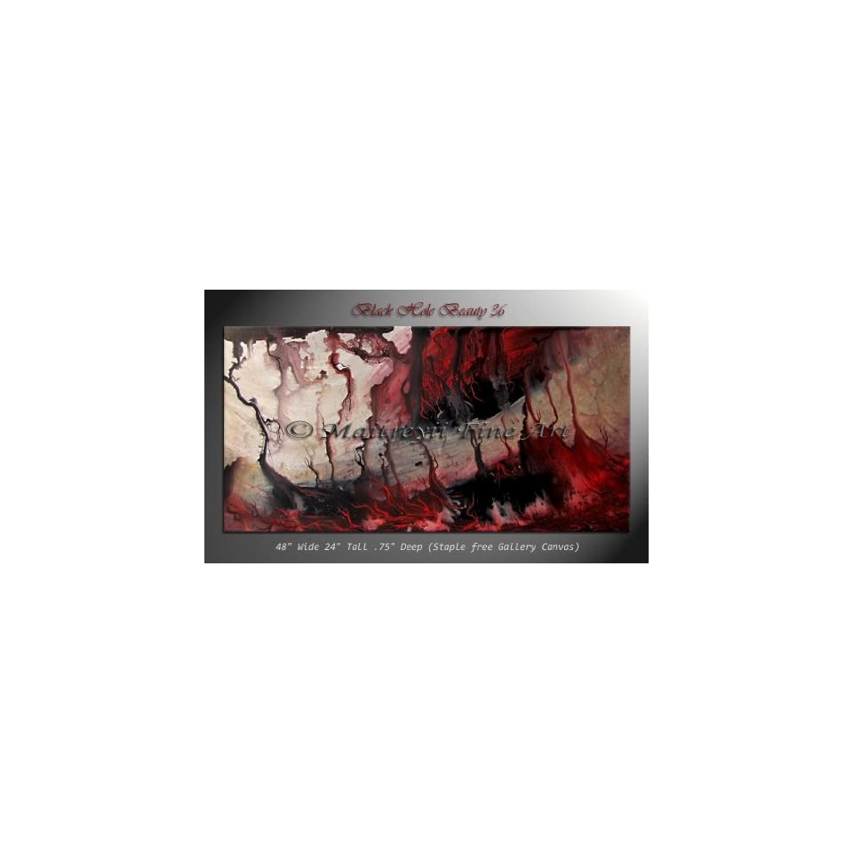 Original Abstract modern Paintings Red Contemporary Art Gallery Maitreyii