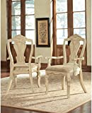 Ashley Furniture Signature Design Ortanique Dining UPH Arm Chair, 28.25 by 26.63-Inch, Light Opulent Color, Set of 2, Arm Chair