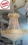 S M Arcade Grand Antique Finish Golden Chandelier at an unbelievable price including FREE SHIPPING (SM-52/A)