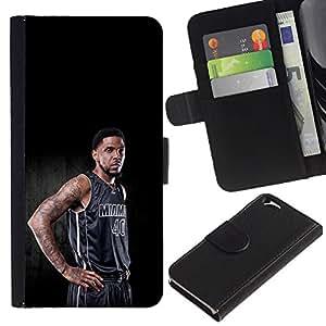 Stuss Case / Funda Carcasa PU de Cuero - Miami 40 Baloncesto - Apple Iphone 6
