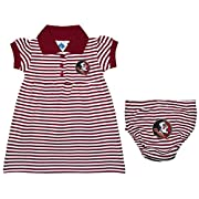 Florida State University Seminoles Striped Game Day Dress with Bloomer Garnet 6-9 Months