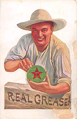 Texaco Axle Grease Advertising Antique Postcard J78117