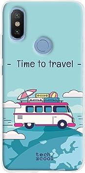 Azul Funnytech/® Funda Silicona para Xiaomi Mi A2 Frase Toda Aventura Gel Silicona Flexible, Dise/ño Exclusivo