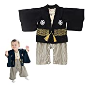 Baby Boy Romper Clothes Organic Cotton Kimono Two-piece Sets Printed Pattern Pajamas Long Sleeve for Autumn Fall Winter 80