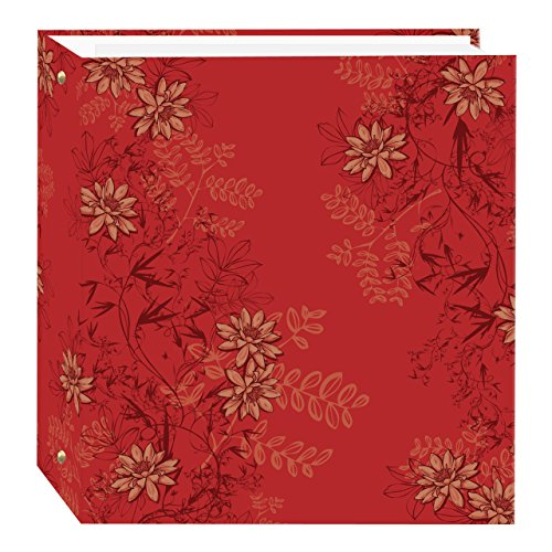 (Pioneer Photo Albums TR-100D/RF Magnetic 3-Ring 100 Page Photo Album, Red Foliage Design)