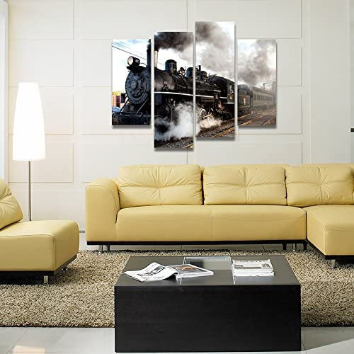 home, kitchen, wall art,  posters, prints 5 picture Home For Art INC-Train with Gray Smoke in USA