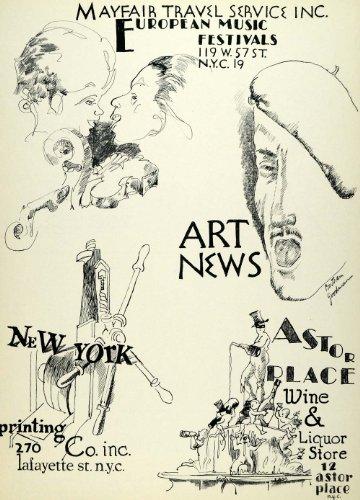 Mayfair Music (1957 Lithograph Bertram Goodman Art Astor Liquor Mayfair Travel European Music - Original Lithograph)