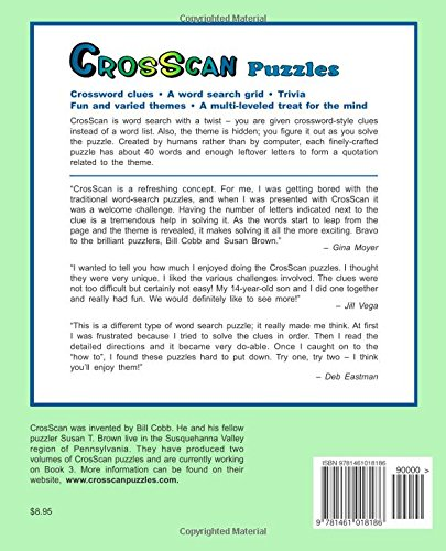 CrosScan Puzzles: A Challenging New Dimension in Word Search: Mr ...