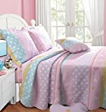 Best Kids Quilts - Greenland Home Polka Dot Stripe Quilt Set, Twin Review