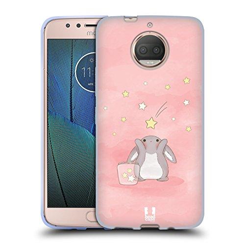 (Head Case Designs Pink Starcatcher Bunnies Soft Gel Case for Motorola Moto G5S Plus)