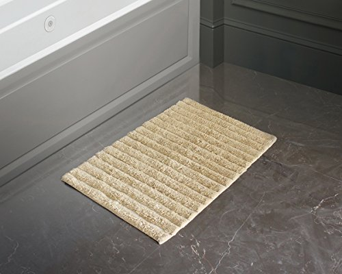 Cotton Bath Mat Rugs Ultra Soft Super Absorbent Non-slip Hand Tufted Floor Entryways Outdoor Indoor Front Door Mat Carpet (Beige)