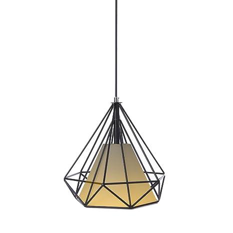 Tomshine Industrial Vintage Style Pendant Light Retro Diamond Ceiling Lamp Hanging Lighting Fixture (E26 Base)