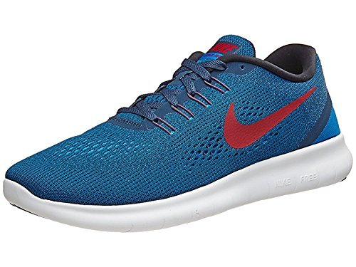 NIKE Mens Free RN Running Shoe (10, Squadron Blue/Gym Red/Blue Spark/Black)