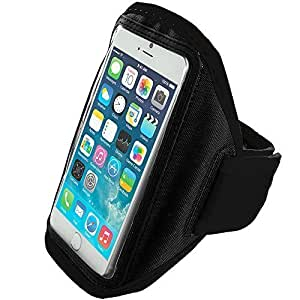 Accessory Planet(TM) Black Gym Sports Running Armband Case for Apple iPhone 6 (4.7) by runtopwell