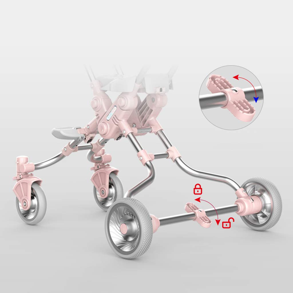 Socean Baby Carriage - Lightweight Folding Strollers, high Landscape Outdoor Travel Strollers, Super Load-Bearing, Four-Wheeled Brakes. by Baby trolley (Image #5)