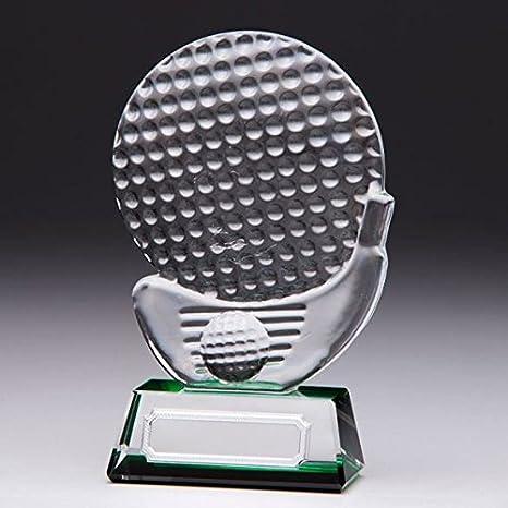 Personalizado grabado Empire Golf Shot cristal premio trofeo grabado gratis: Amazon.es: Deportes y aire libre