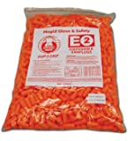 Magid Safety IHP32RF Earplugs | Uncorded Polyurethane Foam E2 Disposable Earplugs, One Size Fits All, Fluorescent Orange (Bag of 500 Pairs)