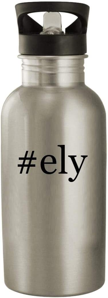 #ely - Stainless Steel Hashtag 20oz Water Bottle, Silver 513ZWzmfEFL