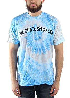 The Chainsmokers Logo Blue Swirl Mens Tie Dye T-Shirt