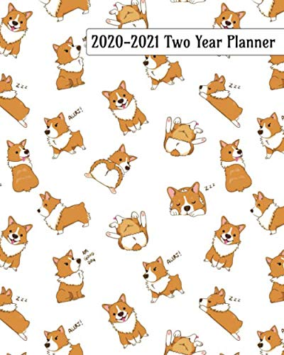 2020-2021-Two-Year-Planner-Playful-Corgi-Puppies-Cover-on-a-Weekly-Monthly-Planner-Organizer-Perfect-2-Year-Motivational-Planner-Agenda-Schedule–Corgi-Lovers-Dog-Lovers-2-Year-Planner