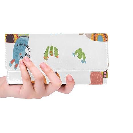 ef437c3aae5e Silly Meow Cute Lamas Custom Women's Wallet Women's Trifold Long Clutch  Wallets Great Gift