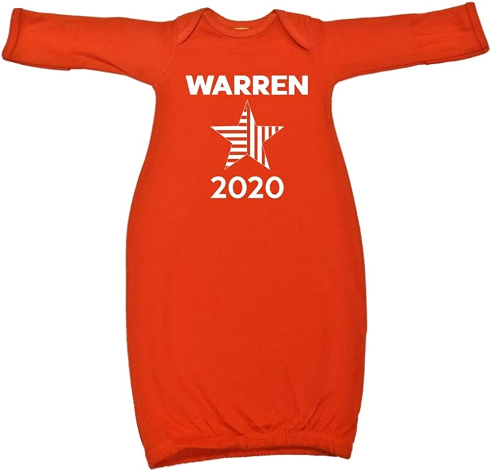 Mashed Clothing Warren 2020 Presidential Election 2020 Baby Cotton Sleeper Gown Star